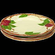 "Franciscan China ~ Apple Pattern ~ 8"" Salad Plates ~ 2 U.S.A., 1 England"