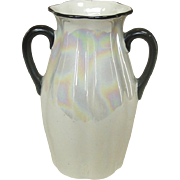 Lustreware Pottery Vase ~ Made in Czechoslovakia ~ Red Mark ~ Circa 1925
