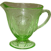 Hazel-Atlas Glass ~ Royal Lace Pattern ~ Creamer, Green ~ Depression Glass