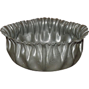 Standish Solid Pewter ~ Crimp Edge Bowl ~ Early 20th Century