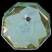 Vintage Handkerchiefs / Hankies ~ Original Box ~ Swiss Style Embroidery