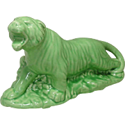 Green Tiger Planter ~ Cameron Clay Products, WV ~ Mid-Century