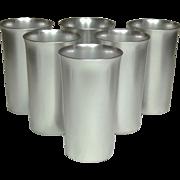 Kensington Ware ~ Vintage Aluminum Tumblers ~ Six pieces