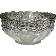 Pressed Glass Bowl ~ U.S. Glass Company ~ Large Bowl ~ Panelled 44 Pattern ~ 1912