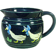 Goose in Blue Bonnet Milk Pitcher ~ Japan ~ Mid-Century ~ Cute as it Gets