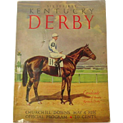 Sixty First Kentucky Derby Official Program ~ May 4, 1935 ~ Derby History, Great Old Ads