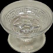 A. H. Heisey & Co. ~ Grecian Border Pattern ~ Almond Dish ~ Individual ~ Straight Rim