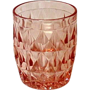 "Pink Depression, Glass ~ Windsor or ""Windsor Diamond"" Pattern ~ Jeannette Glass Company ~ Juice Tumbler"