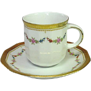 Tirschenreuth, Bavaria ~ Made in Germany ~ Petite Rose ~ Demitassee Cup and Saucer