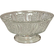 EAPG Glass ~ Open Compote / Footed Bowl ~ Feather Pattern ~ Circa 1896 ~ McKee Brothers