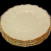 "Lenox USA ~ Cottage Line ~ Leaf Pattern ~ Dessert / Pie Plates ~ 7 1/4"" ~ Six"