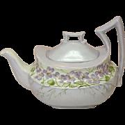 Tressemanes and Vogt ~ Limoges, France ~ 10 oz. Porcelain Tea Pot ~ Handpainted