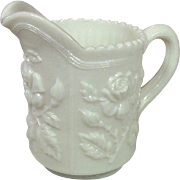 Imperial Glass Company, Imperial Rose Creamer, Milk Glass