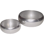 "Kensington Ware ~ Vintage Aluminum Serving Bowls ~ 7 1/2"" and 5 1/2"" ~ Mid-Century"