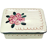 Stangl Pottery ~ Trinket / Cigarette Box, Covered ~ Terra Rose ~ Mountian Laurel ~ Mid-Century