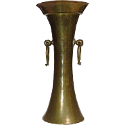Pre-Revolutionary Russian ~  Arts and Crafts ~ Brass & Copper Vase ~ Handcrafted