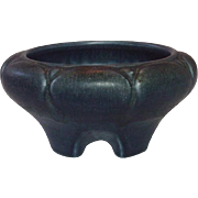 Rookwood Pottery ~ Dark Blue Drip Glazed Footed Bowl ~ 1920 ~ Arts and Crafts