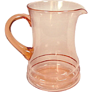 Dunbar Glass Company ~ Pink Depression Glass ~ Pitcher ~ 48 oz. ~ Elegant design ~ 1930's