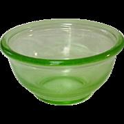 "Hazel-Atlas Glass Company ~ Plainware Mixing Bowl ~ 6"" ~ Green ~ Depression Glass"