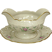 Princess China ~ TruTone USA ~ Sweet Briar Pattern ~ Gravy with Underplate ~ Mid 20th Century