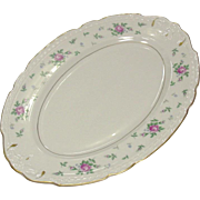 "Princess China ~ TruTone USA ~ Sweet Briar Pattern ~ 14"" Oval Platter ~ Mid 20th Century"