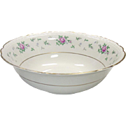Princess China ~ TruTone USA ~ Sweet Briar Pattern ~ Round Serving Bowl ~ Mid 20th Century