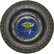 Good Year Tires  ~Advertising Ashtray ~ Super Cushion Tires