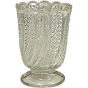 EAPG Glass Spooner ~ Feather Pattern ~ Circa 1896 ~ McKee Brothers