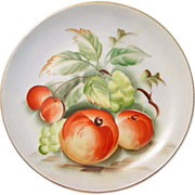 "Lefton China ~ Hand Painted Plate ~ 8 1/4"" ~ Japan"
