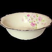 Homer Laughlin China ~ Virginia Rose ~ Fluffy Rose #1 ~ Serving Bowl ~ 1945