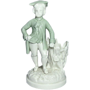 Royal Worcester Porcelain ~ Figural Toothpick Holder ~ 18th Century Gentleman ~ Circa 1862