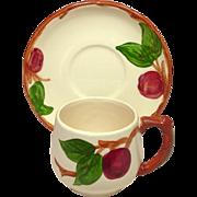 Franciscan China ~ Apple Pattern ~ Small Mug and Saucer ~ U.S.A. Mark