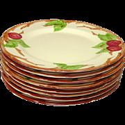 "Franciscan China ~ Gladding McBean Company ~ Apple Pattern ~ Dinner Plates, 10 1/2""  ~ U.S.A. Mark"