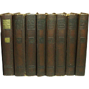 Beacon Lights of History ~ 8 volumes ~ John Lord ~ Wm. Wise & Co. ~ 1920