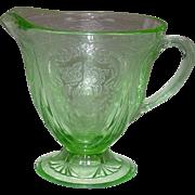 Depression Glass ~ Hazel-Atlas Glass ~ Royal Lace Pattern ~ Creamer ~ Green