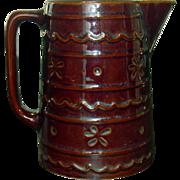 Hull Art Pottery ~ Mar-Crest Stoneware ~ Daisy and Dot Pitcher