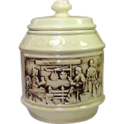 """McCoy Pottery ~ Cookie Jar ~ """"The Frontier"""" ~ Two Rustic Scenes"""