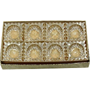A. H. Heisey & Co. ~ Ridgeleigh Pattern ~ Individual Salts ~ Eight in Original Box