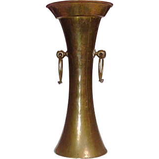 Arts and Crafts ~ Brass & Copper Vase ~ Handcrafted ~ Pre-Revolutionary Russian