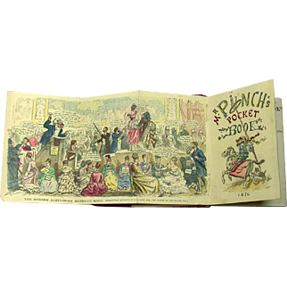 Punch's Pocket-Book for 1876 ~ Red Leather Cover ~ London ~ Scarce