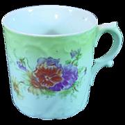 Old Shaving Mug ~ Floral Design ~ Embossed Design Body