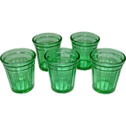 Akro Agate Tumblers ~ Play Time Lemonade Set ~ Green