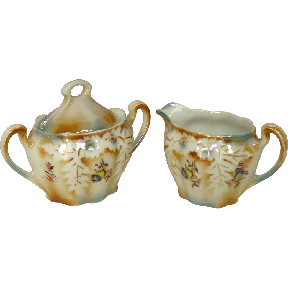 Lusterware ~ Germany ~ Sugar and Creamer Set