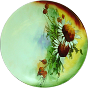Hand Painted Plate ~ Caine's Studio ~ Bavaria ~ Artist Signed