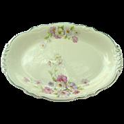 "Homer Laughlin China ~ Virginia Rose ~ Fluffy Rose #1 ~ 11 1/2"" Platter"