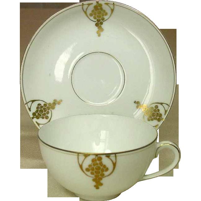 Thomas Fine Porcelain ~ Severs ~ Bavaria ~ Cups and Saucers ~ Gilt