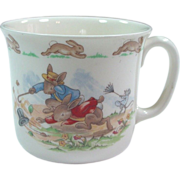 Royal Doulton Fine Bone China ~ Bunnykins ~ Windy Hug-A-Mug