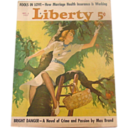 Liberty Magazine ~ September 4, 1937 ~ Short Stories,Quaint Ads, Great Illustration