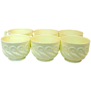 "Northwood Glass ~ Custard Glass ~ Punch Cups ~ ""S"" Repeat Pattern"