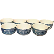 Royal China ~ Currier & Ives ~ Coffee / Tea Cups ~ Six